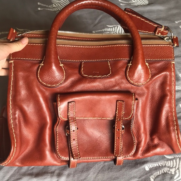 7a60cb414ba Chloe Bags | Vintage Brown Leather Large Tote Bag | Poshmark